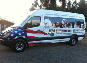 pic of Pet Brigade pet transport van